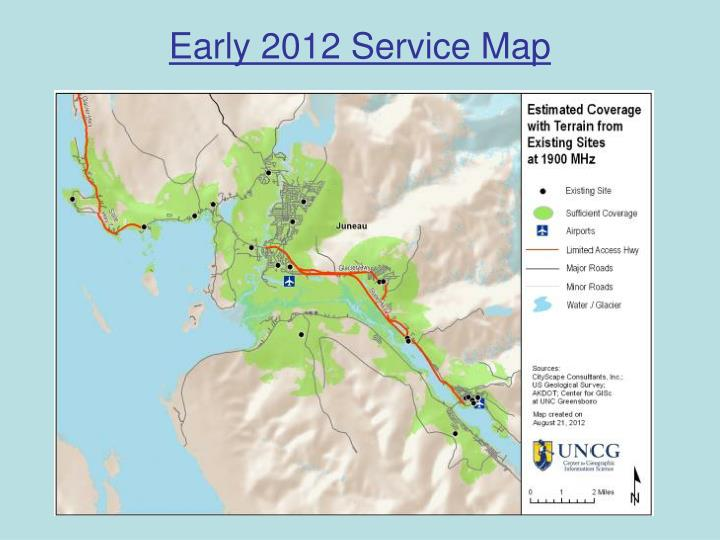 Early 2012 Service Map