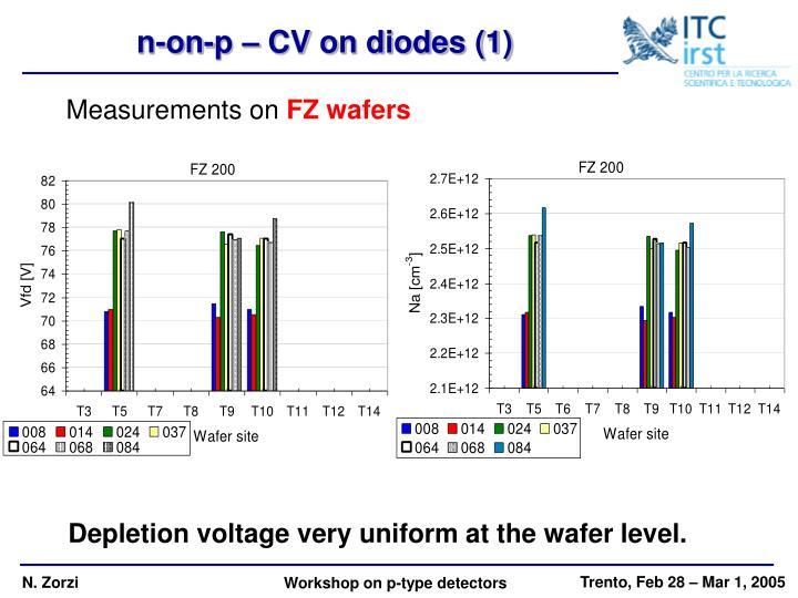 n-on-p – CV on diodes (1)
