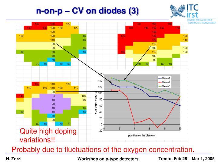 n-on-p – CV on diodes (3)