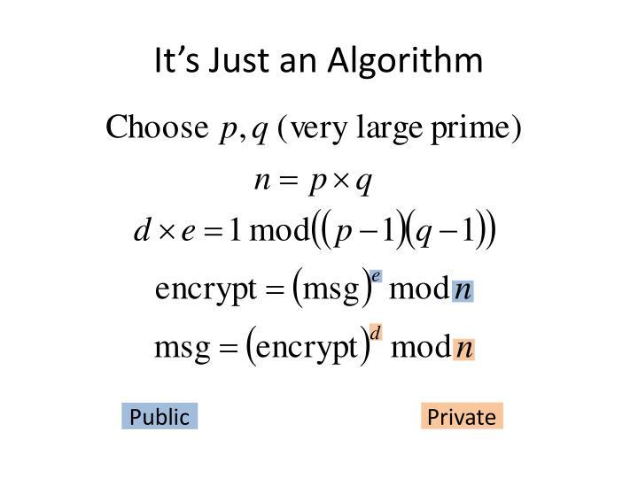 It's Just an Algorithm