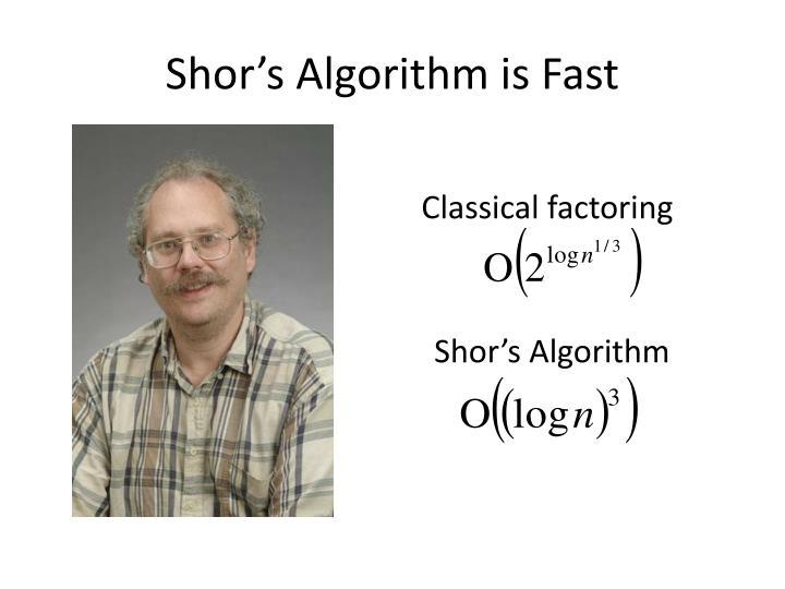 Shor's Algorithm is Fast