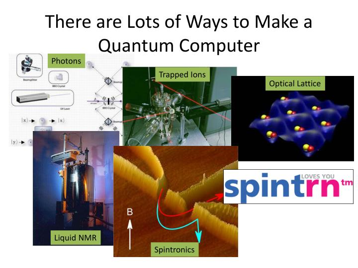 There are Lots of Ways to Make a Quantum Computer