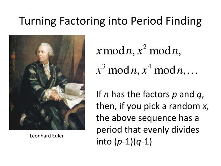 Turning Factoring into Period Finding