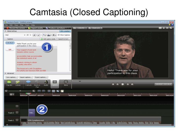Camtasia (Closed Captioning)
