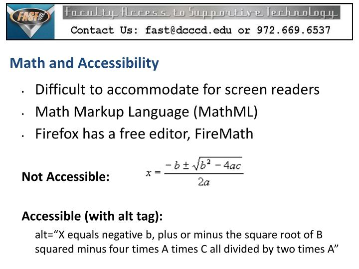 Math and Accessibility