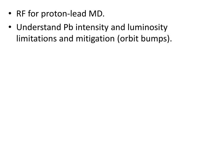 RF for proton-lead MD.