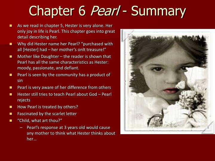 scarlet letter summary ppt the scarlet letter chapter 6 presentation powerpoint 30699
