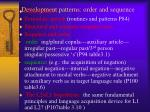 development patterns order and sequence