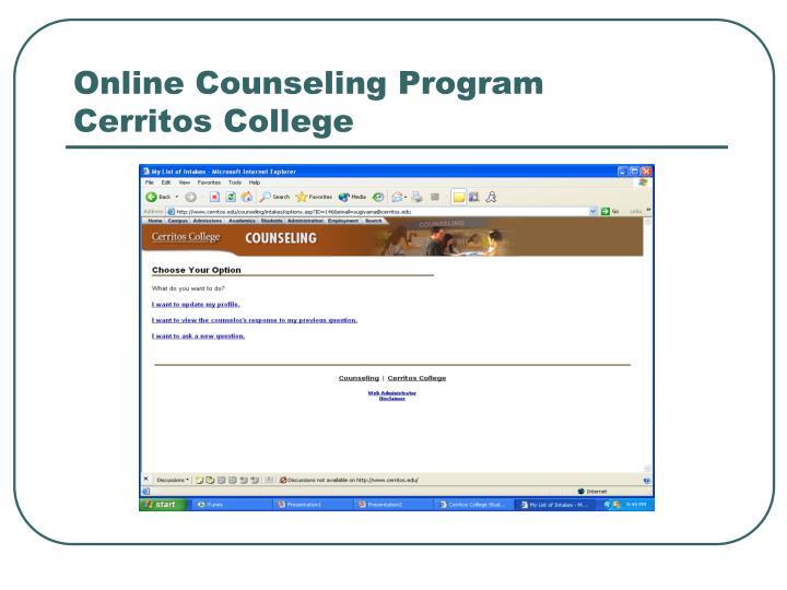 Online Counseling Program