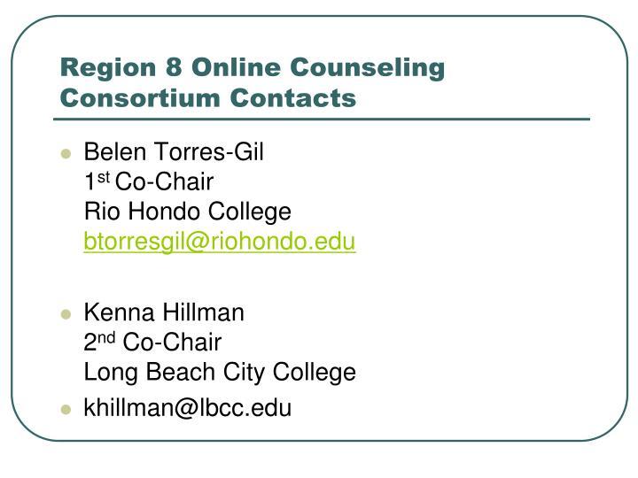 Region 8 Online Counseling