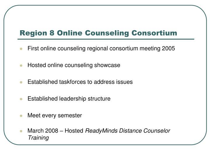 Region 8 Online Counseling Consortium