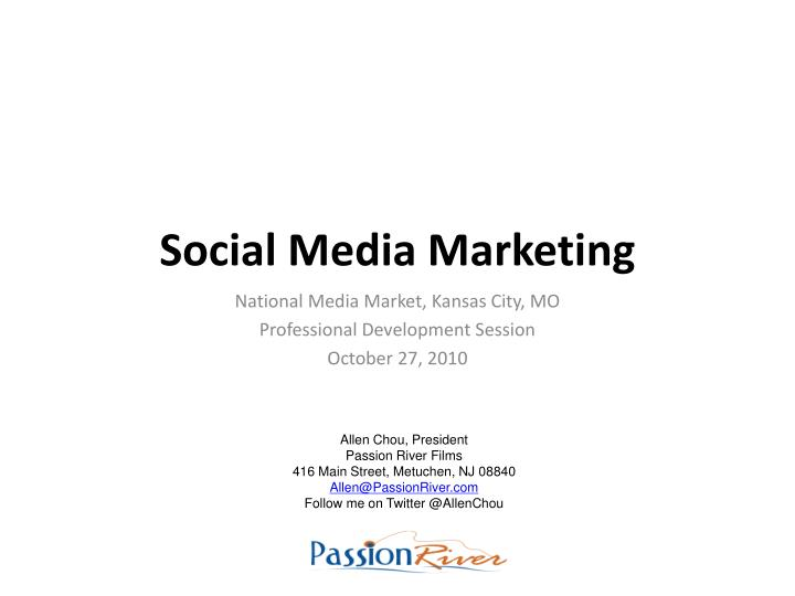 social media marketing n.