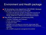 environment and health package1