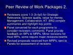 peer review of work packages 2