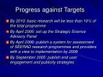 progress against targets2