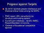 progress against targets4