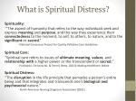 what is spiritual distress
