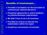 benefits of involvement