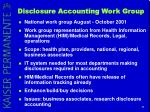 disclosure accounting work group