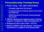 privacy security training group