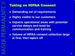 taking on hipaa consent