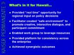 what s in it for hawaii