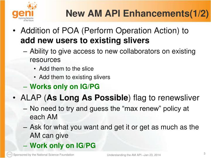 New AM API Enhancements(1/2)