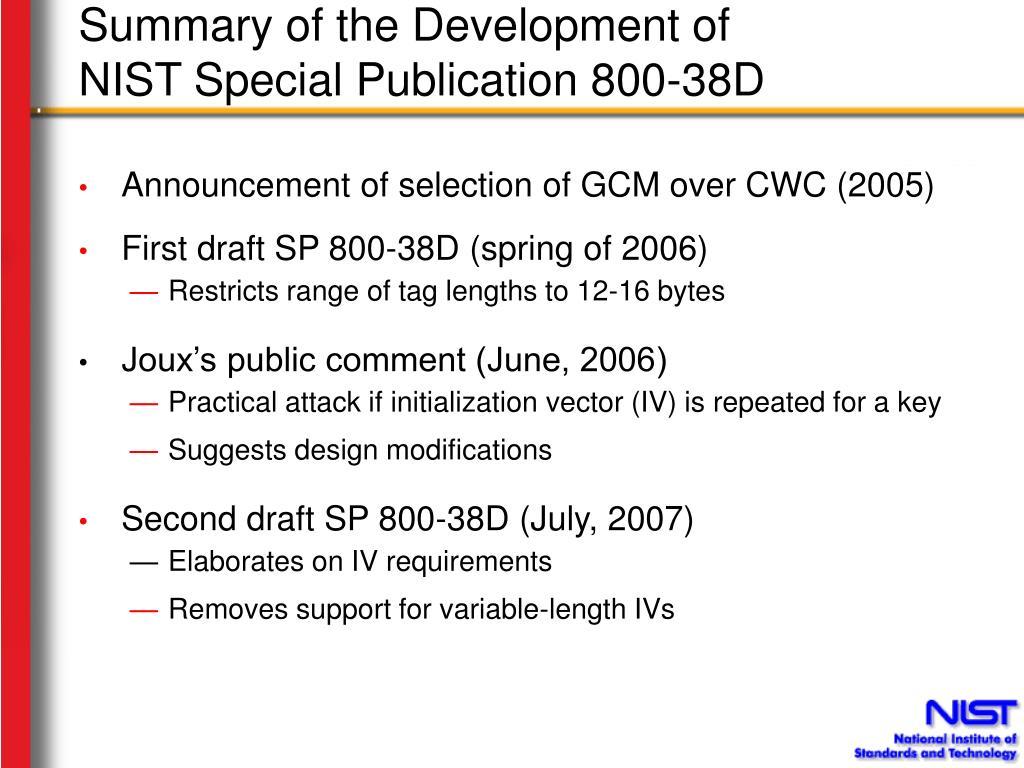 PPT - Should NIST Develop an Additional Version of GCM