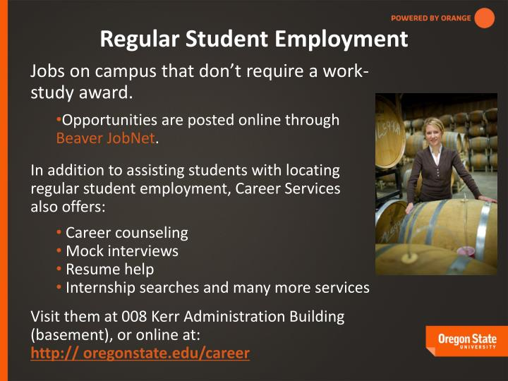 Regular Student Employment