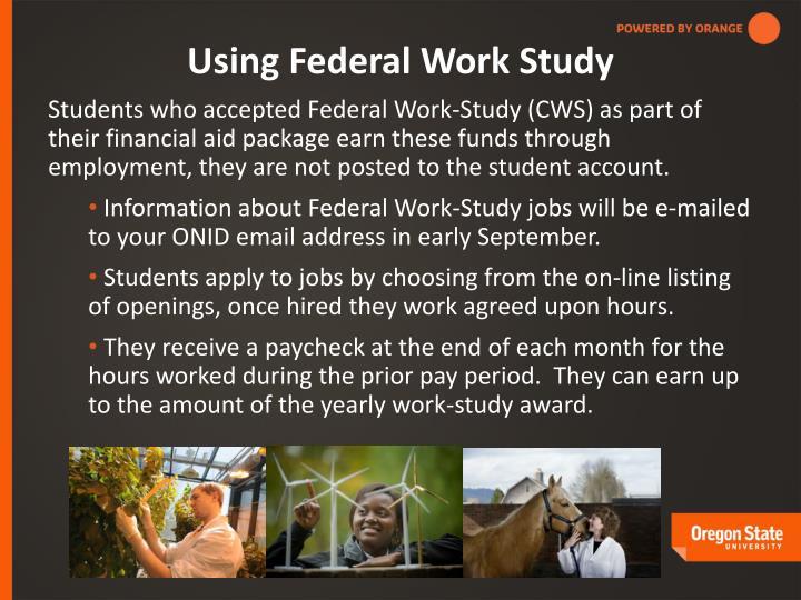 Using Federal Work Study