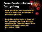 from fredericksburg to gettysburg