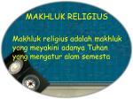 makhluk religius