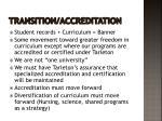 transition accreditation