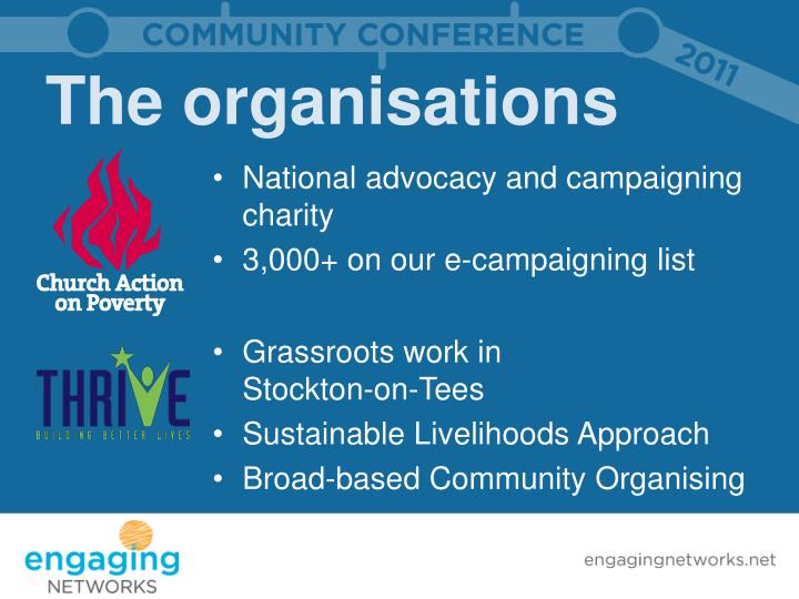 The organisations