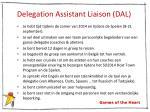 delegation assistant liaison dal