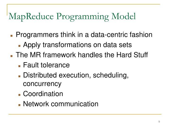 MapReduce Programming Model
