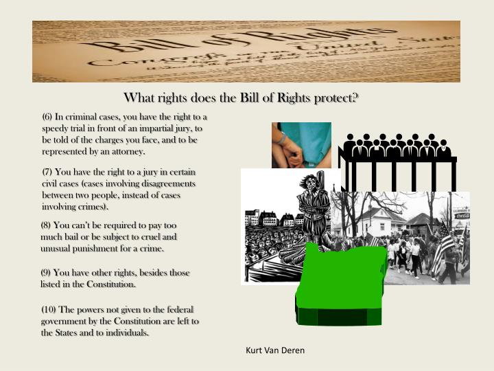 What rights does the Bill of Rights protect?
