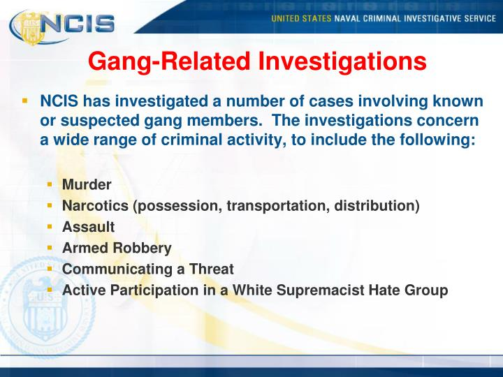 Gang-Related Investigations