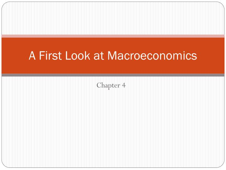 a first look at macroeconomics n.