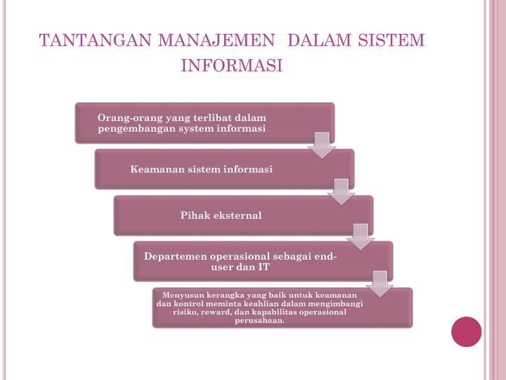 tantangan manajemen  dalam sistem informasi