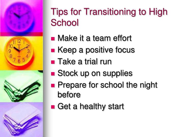 Tips for Transitioning to High School
