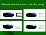 it is okay to betray a friend to win big money