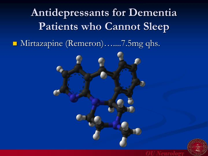 Antidepressants for Dementia Patients who Cannot Sleep