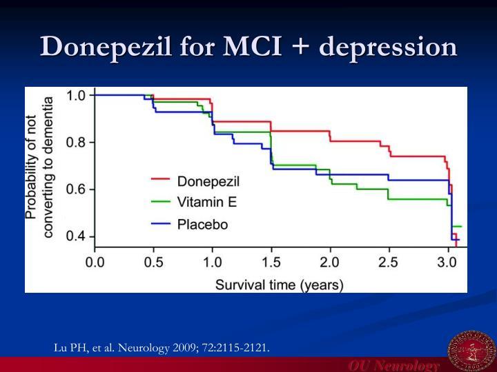 Donepezil for MCI + depression