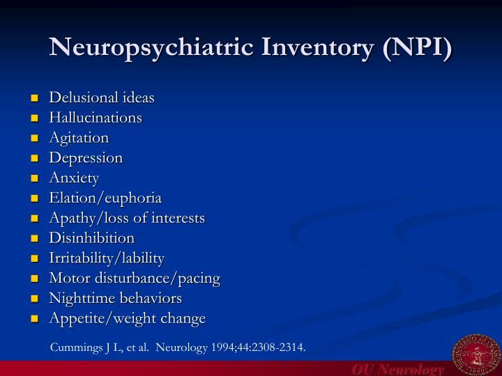 Neuropsychiatric Inventory (NPI)