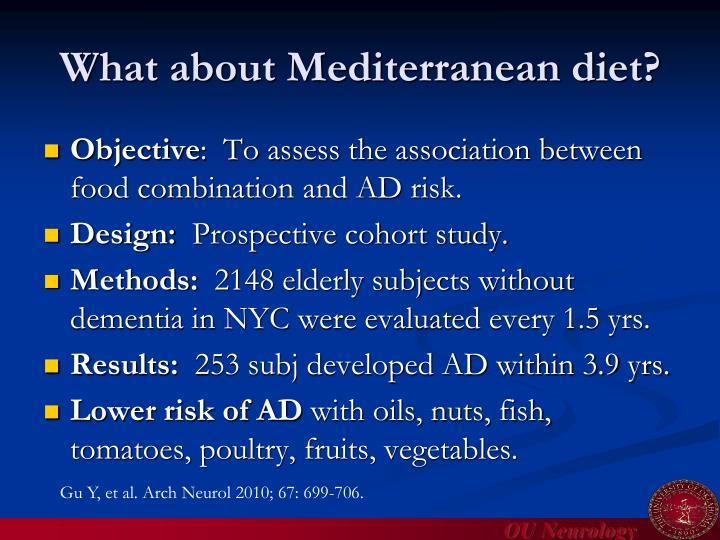 What about Mediterranean diet?