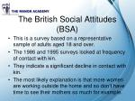 the british social attitudes bsa