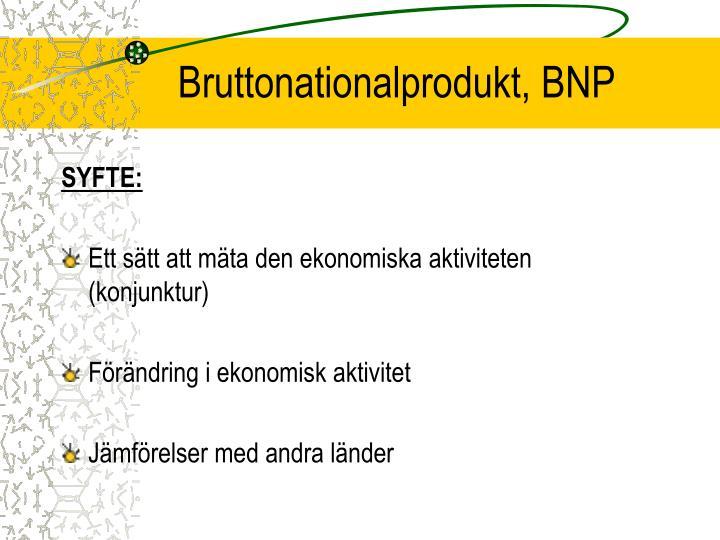 Bruttonationalprodukt, BNP