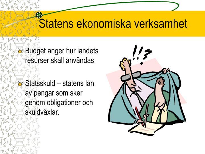 Statens ekonomiska verksamhet