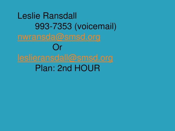 Leslie Ransdall
